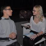 Miodrag Petrović i Marija Stojadinović, volonterka  toku intervjuisanja